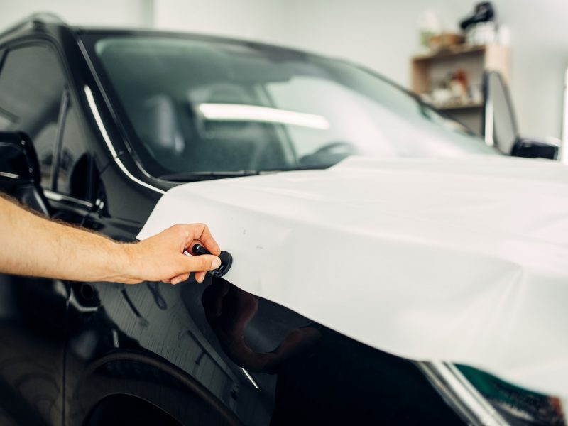 Car paint protection film installation